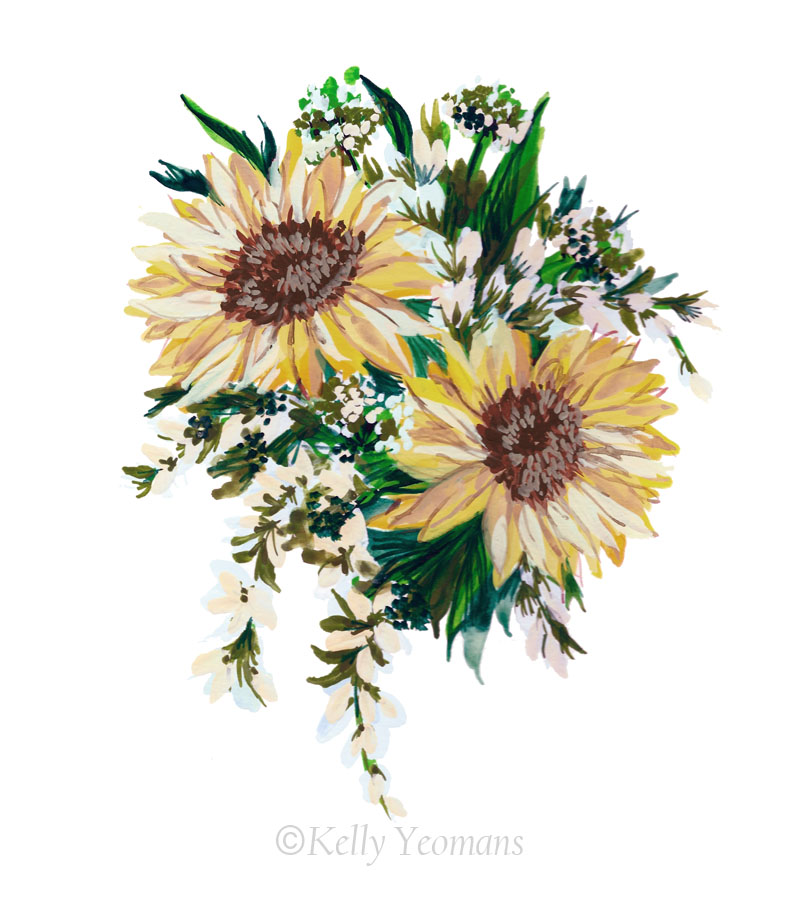 Floral Painting Illustration